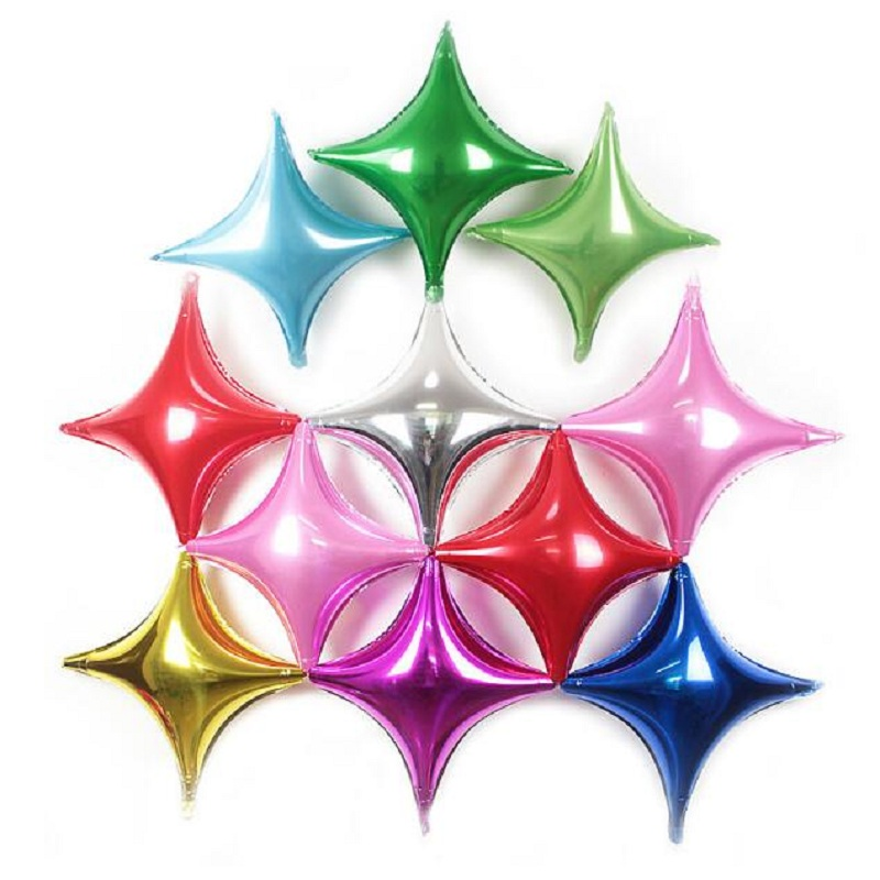 5pcs 65*68CM Four Pointed Sstar Foil Balloons Quadrangular Helium Balloon For Birthday D ...