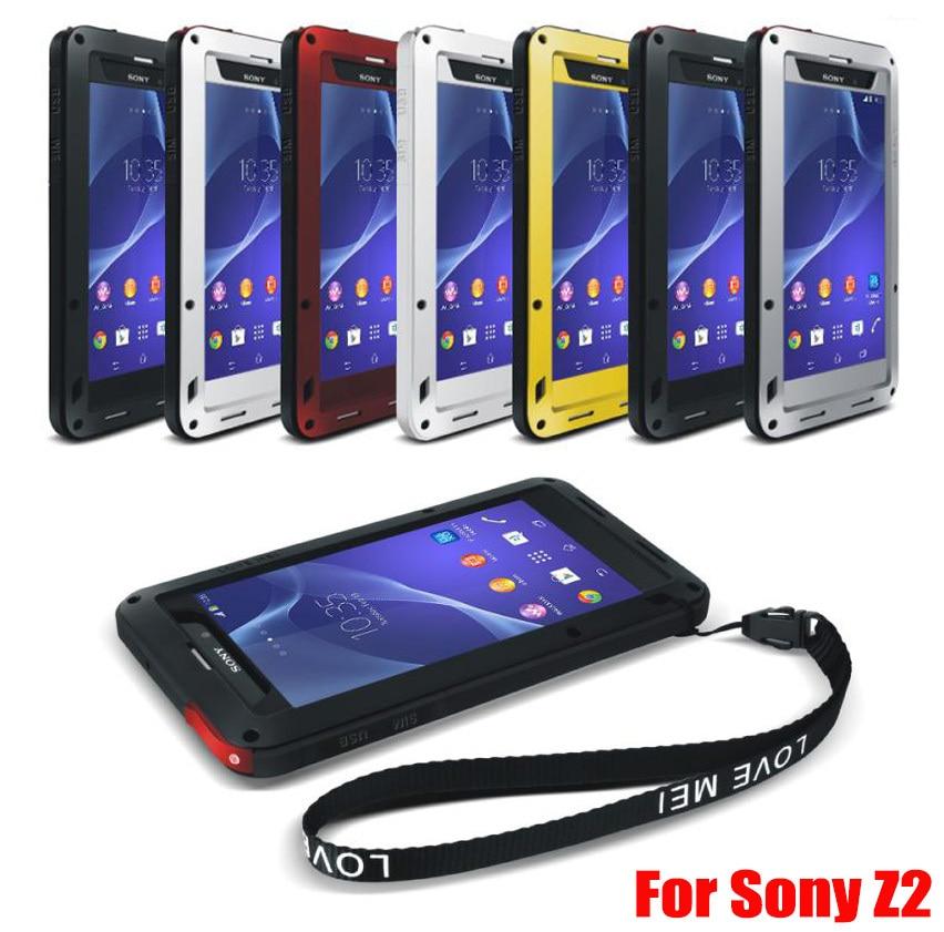 Original LOVE MEI Best Powerful Shock Proof Dirtproof Waterproof Metal Aluminum Case for Sony Xperia Z2