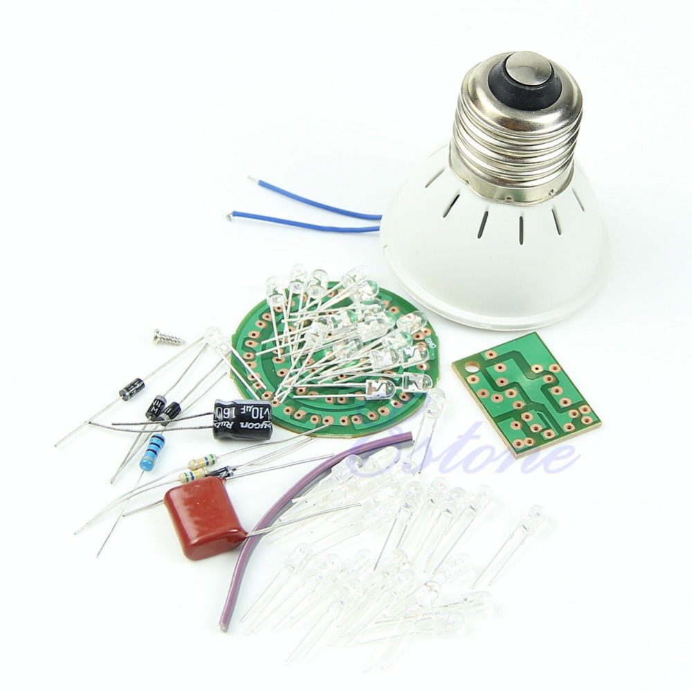 New Energy-Saving 38 LEDs Lamps DIY Kits Electronic Suite 1 Set ...