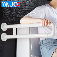 IWJOO Toilet Safety Rails Stainless Steel Bathroom Handrails Wall Mount Elderly Pregnant Women Anti Slip Grab Bar Luminous