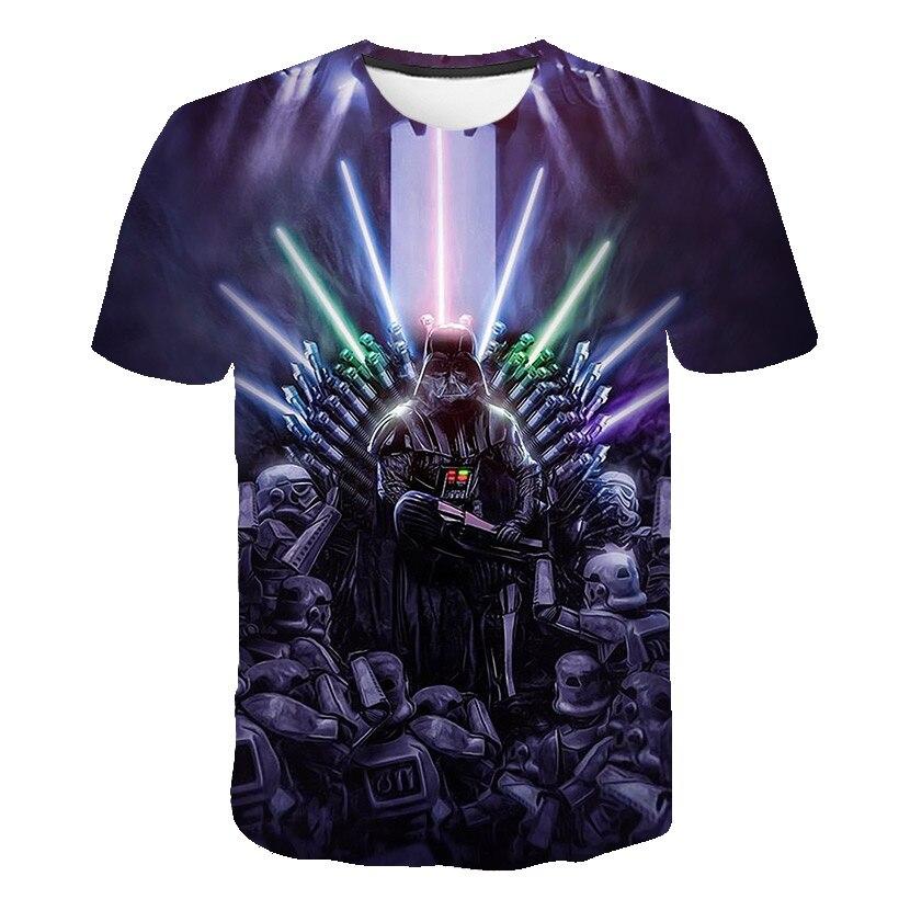 Image 4 - T shirt New high quality mens t shirts Star Wars cartoon  costumes movie t shirts harajuku adult darth vader funny mens t  shirtT-Shirts