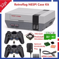 52Pi Retroflag NESPI Case With 16G SD Card Fan 2 Pack 2 4G Gamepad Power Adapter