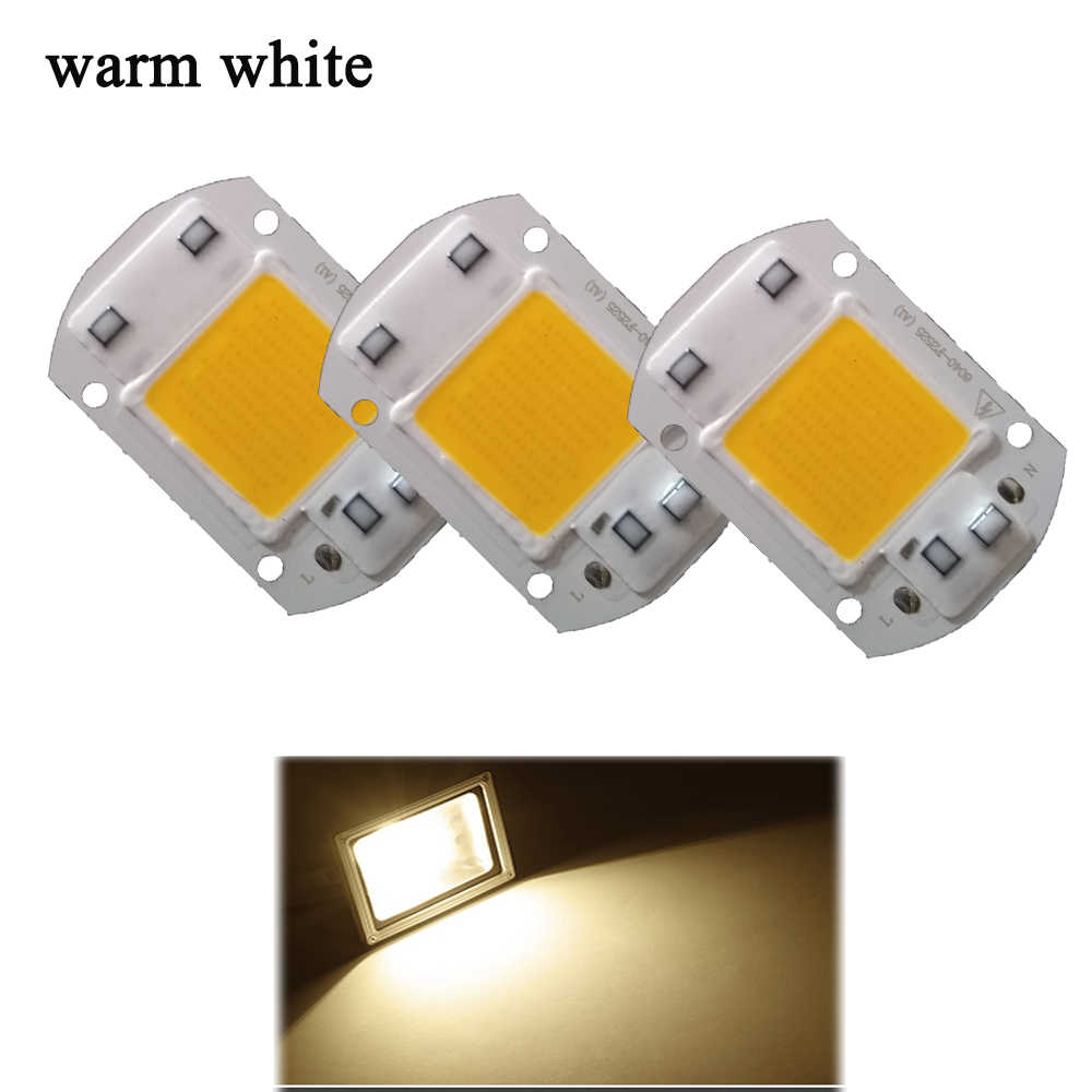 High Power Smart IC  LED Matrix For Projectors 5W 20W 30W 50W 220V DIY Flood Light COB LED Spotlight Outdoor Chip Lamp