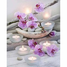 5d Diy Diamond Painting Cross Stitch Zen orchid Diamond Embroidery Flowers Crystal Square/Round Diamond Mosaic Pictures Z307