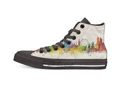 Londyn anglia Skyline Casual wysokie buty płócienne trampki dla Drop shipping