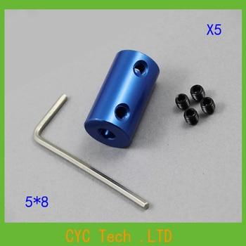 50set 5*8mm blue color  Aluminium coupler Stepper Motor Flexible Coupling 5mm to 8mm Shaft Coupler Diameter 14mm Length 25mm