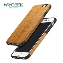 MyGeek Древесины Роскошный Мобильный Телефон Случае для iphone 5 5s 6 6 s 7 плюс sonix телефон Случае Защитная Крышка натуральный Оригинальный дизайн