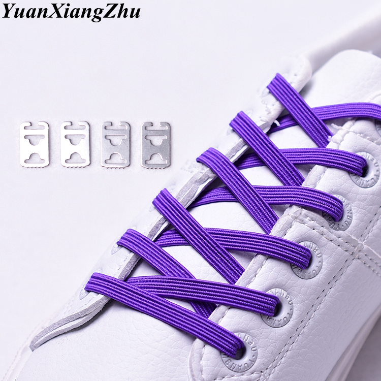 New Elastic Rainbow Color Shoelaces No Tie Sneakers Shoe Laces Kids Adult Quick Lazy Shoelaces Stretching Lace Flat Lacets