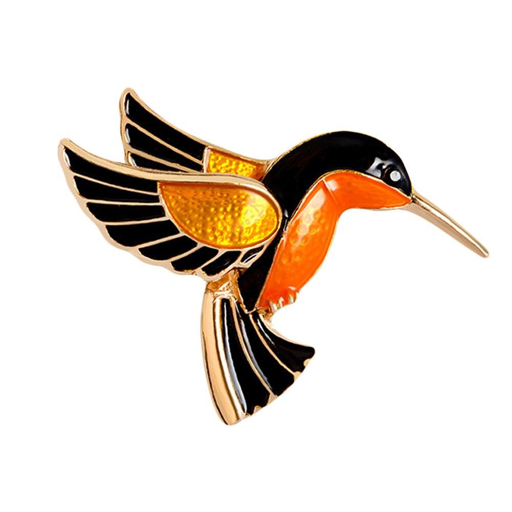 Красочные глазурью Flying птичка японского журавля Фламинго из металла птица брошь Шпильки платье куртка Булавки Знак подарок ювелирные изделия