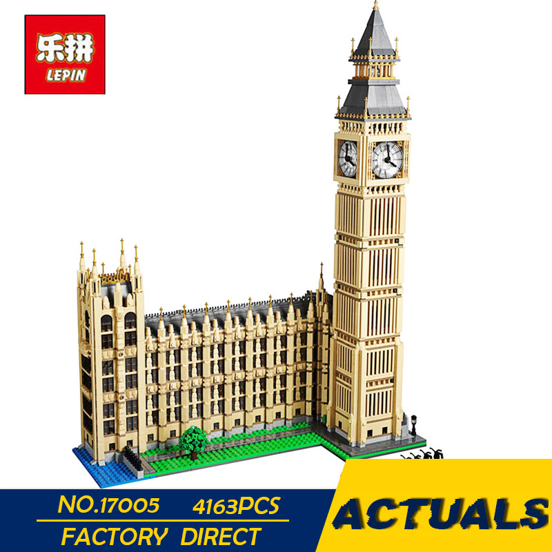 LEPIN 17005 4163PCS Big Ben Elizabeth Tower Model Building Kits Block Brick DIY Toys lepin Compatible 10253 Child Gifts