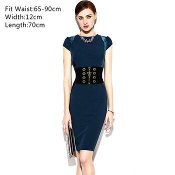 Women's Wide Elastic Belt Female Dresses Zipper Designer Slim Waist Black Wide Corset Belt For Women Waistband Korse Kemer 1