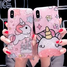 Cute unicorn silicone soft case for huawei Honor 8X 7X V9 V10 V20 honor play honor 8 9 10 lite p8 lite 2017(China)