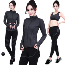 The New Nylon Yoga Suit Workout Clothes Outdoor Leisure Sports Coat Running Clothing