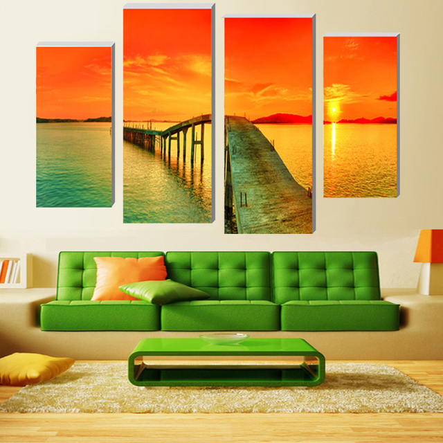 Canvas Painting Modular Pictures Caribbean Modern Home Decoration