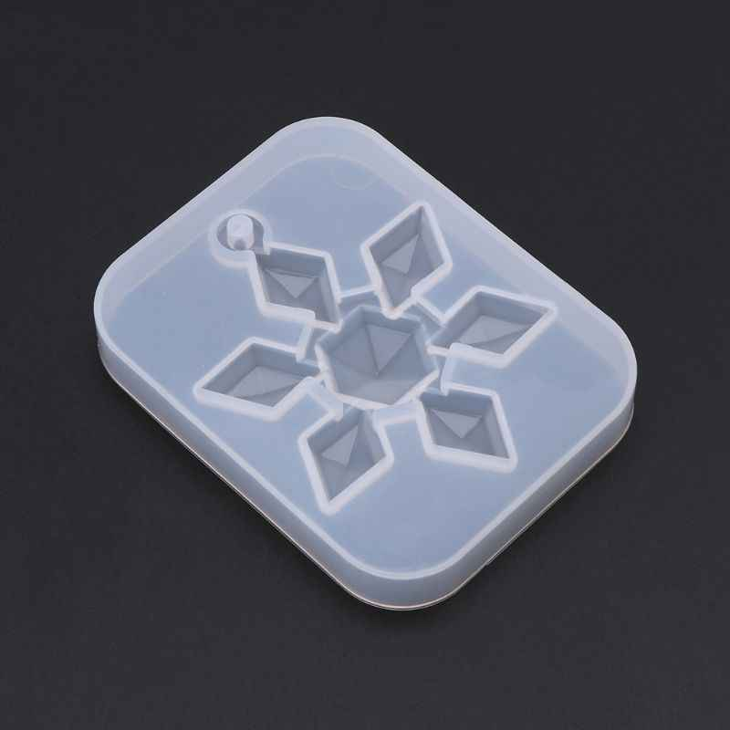 Silicone Mold Mirror DIY Snowflake Handmade Crafts Epoxy Resin Gifts Molds Silica Jewelry Making Pendant Crystal Necklace Decor