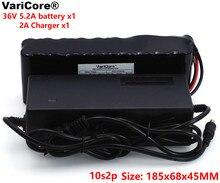 VariCore 36V 5.2Ah 10S2P 18650 batería recargable Cambio de bicicletas, coche eléctrico 42V protección placa de circuito + 2A cargador