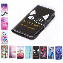 samsung side flip phones. two side painting wallet phone cover rose flower tower pattern flip leather case for samsung galaxy phones