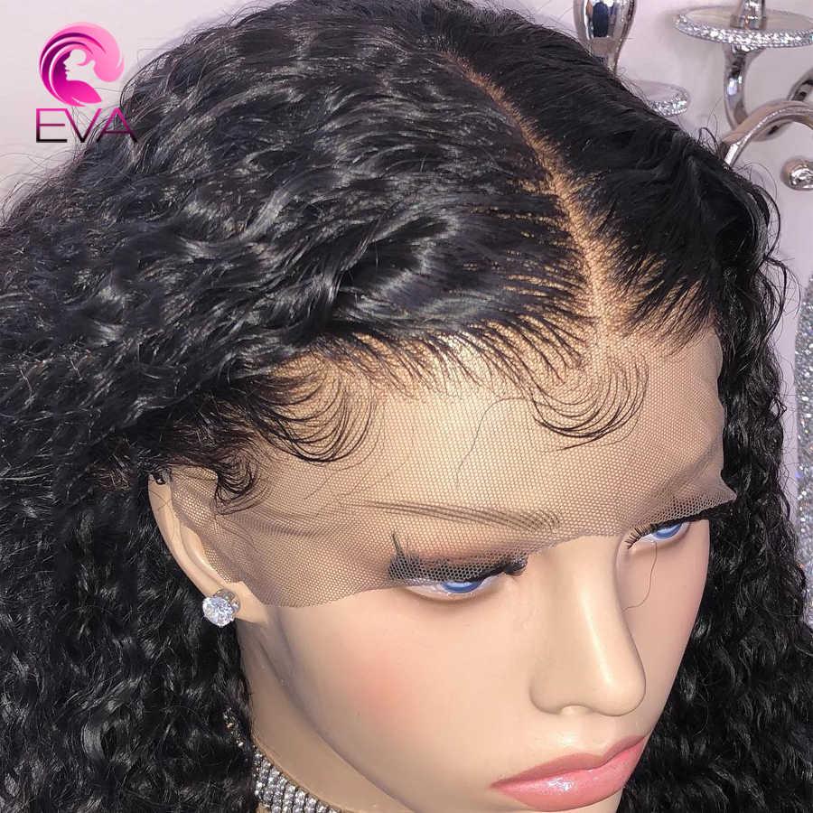 Полный шнурок человеческих волос парики предварительно выщипанные волосы с ребенком Волосы remy бразильский вьющиеся волосы человека парик отбеленные узлы для черный Для женщин
