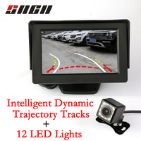 Auto Camera Car Intelligent Dynamic Trajectory Tracks Rear View Camera CCD HD+4.3 TFT LCD Color Rearview Display Monitor