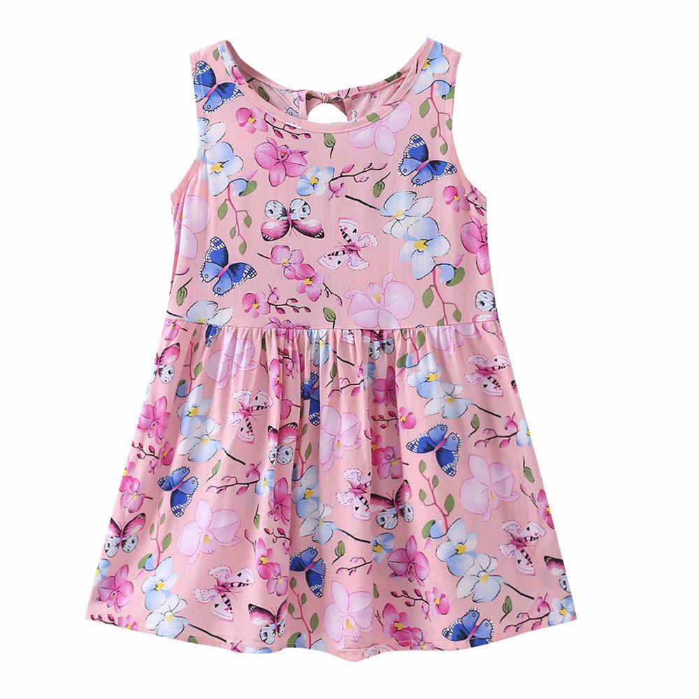 c82809f55 Chicas ropa de verano niña vestido bebé niñas bebé de dibujos animados de  niños vestido de