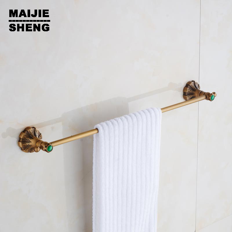 ФОТО Towel rack Solid Brass Made, high quality vintage towel rack Bathroom Accessories Antique brass Single Towel Bar, Towel Holder