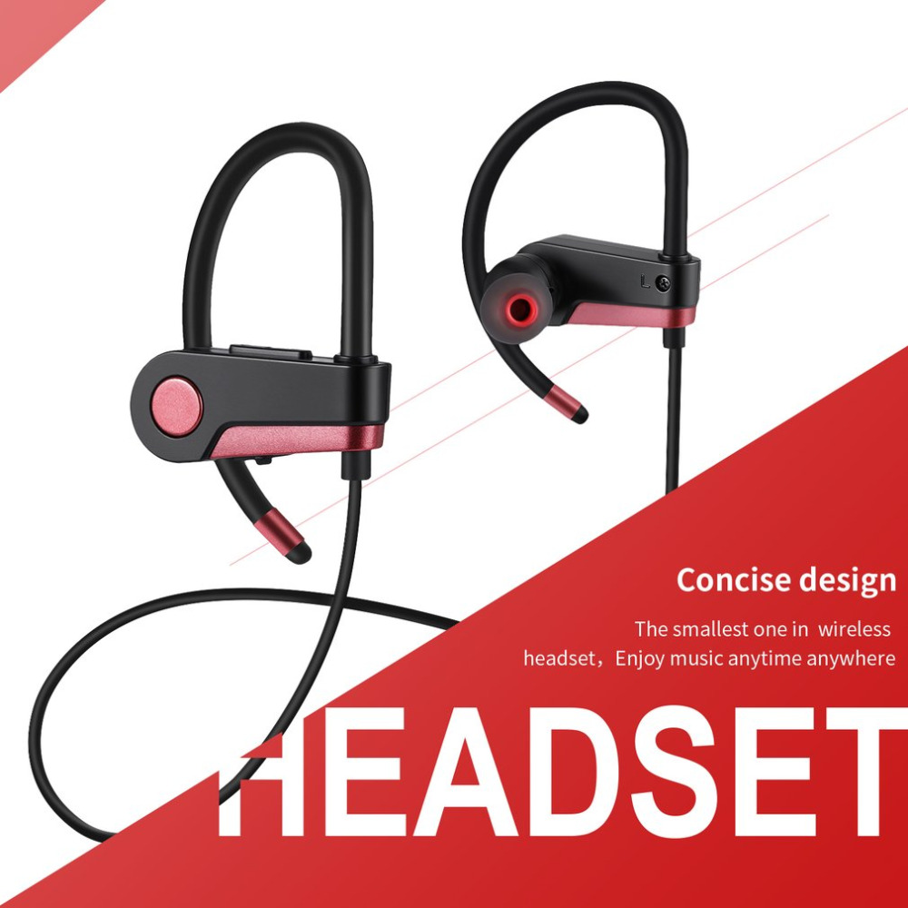 Wireless Bluetooth Headphones Sports Earphones Stereo Sound for Gym Running Workout Noise Cancelling Headsets Fast Charge