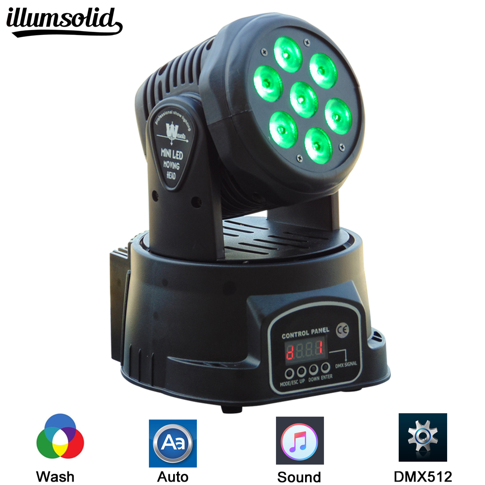 New Arrival 7X12W RGBW LED Stage Light Moving Head Beam Party Light DMX WASH Led Dj