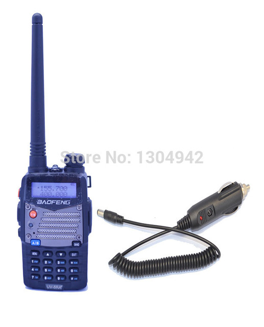 New Black BAOFENG UV-5RA+PLUS VHF/UHF Dual Band Radio +Car charger cable +free shipping Telecom Parts