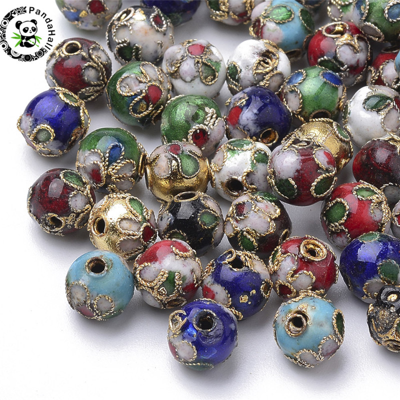 0.48 Dandan DIY 16pcs 12mm Colorful Mix Lots Assorted-Colors Antique Charms Glass Ball with Tiny Shiny Rhinestone Beads Pendant Craft Accessory DIY Necklace Bracelet Craft Jewelry Making Supply
