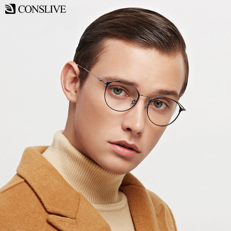 Prescription Glasses Men Women Myopia Eyeglasses Round Multifocal Eye Glass Women Corrective Eyeglasses