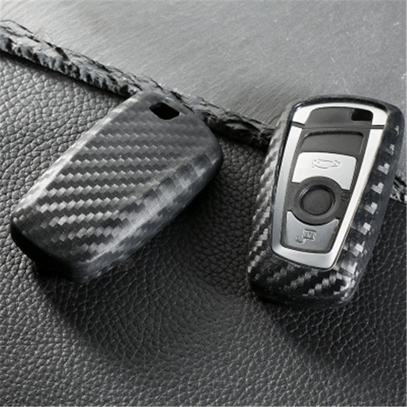Peacekey En fiber de Carbone couleur De Voiture Key Case Cover Shell Pour BMW F10 F20 F30 NOUVEAU 1 2 3 4 5 6 7 Série X3 X4 320I 116I 118I 328I 530I