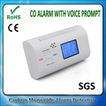 LCD Display Carbon Monoxide Alarm CO Detector with Sensor Alarm Warning Monitor Voice Prompt for home security