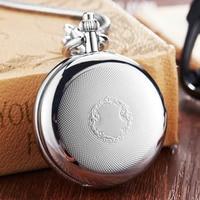 Luxury Sliver Mechanical Pocket Watch Men Women Clock Skeleton Dial Flip Golden Color Double Dual Case Copper FOB Chain Watches