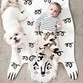 2017 INS Cute Baby Cotton Covering Blanket Cool Lion Pattern Head Baby Mat Newborn Baby Room Decoration Blanket 113*68cm