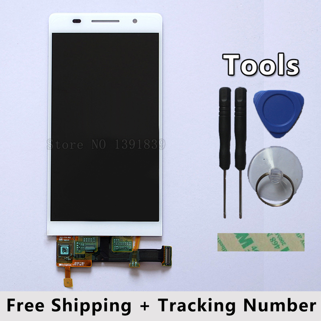 100% QC PASS LCD Display + Touch Screen Digitizer Glass Panel For Huawei Ascend P6