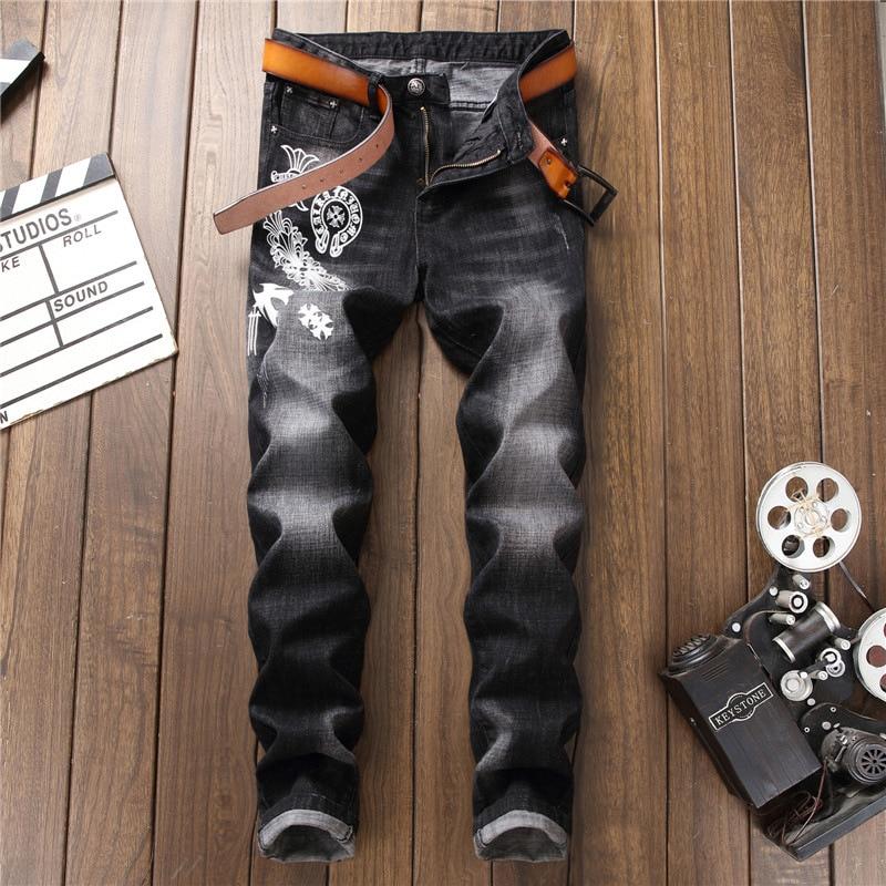 Модные джинсы дизайнер 2018 Для мужчин S Джинсы для женщин вечерние молнии Для мужчин панк проблемных тенденция Байкер трек Джинсы для женщин ...