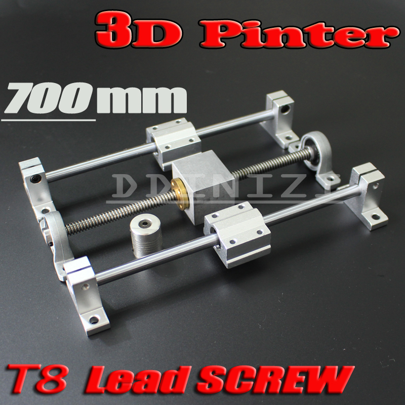 HOT sale 3D Printer guide rail sets T8 Lead screw length 700mm linear shaft 8 700mm