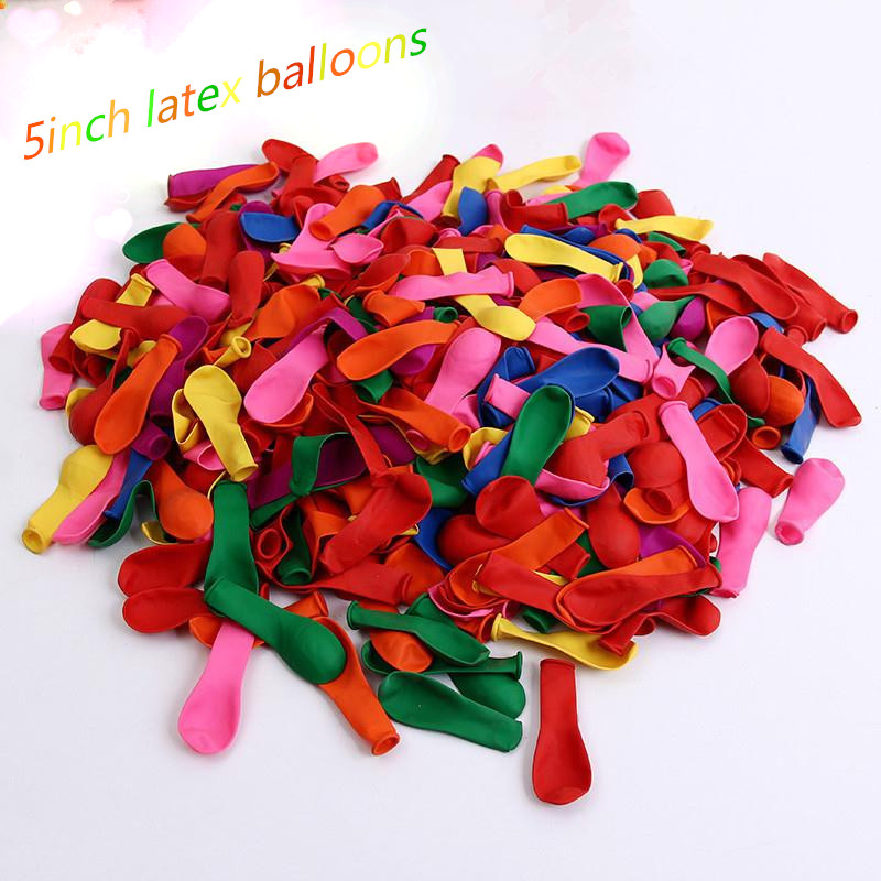 <font><b>500pcs</b></font> water bomb balloons 5inch multicolor latex <font><b>ballon</b></font> Swimming Pool birthday wedding party decoration small <font><b>ballon</b></font> child toys image