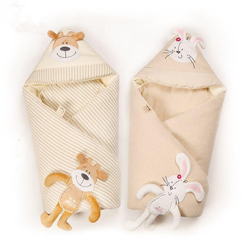 Removable Liner Warm Baby Blanket Infant Wrap Soft Baby Bedding Cotton Newborn Swaddle Envelope Newborns Receiving