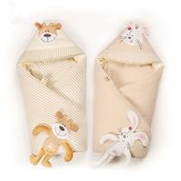 Removable Liner Warm Baby Blanket Infant Wrap Soft Baby Bedding Cotton Newborn Swaddle Envelope Newborns Receiving Blanket