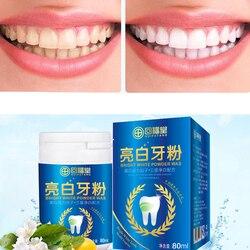 80ml Bright White Teeth Powder Washing Tartar Smoke Stains Toothpaste powder