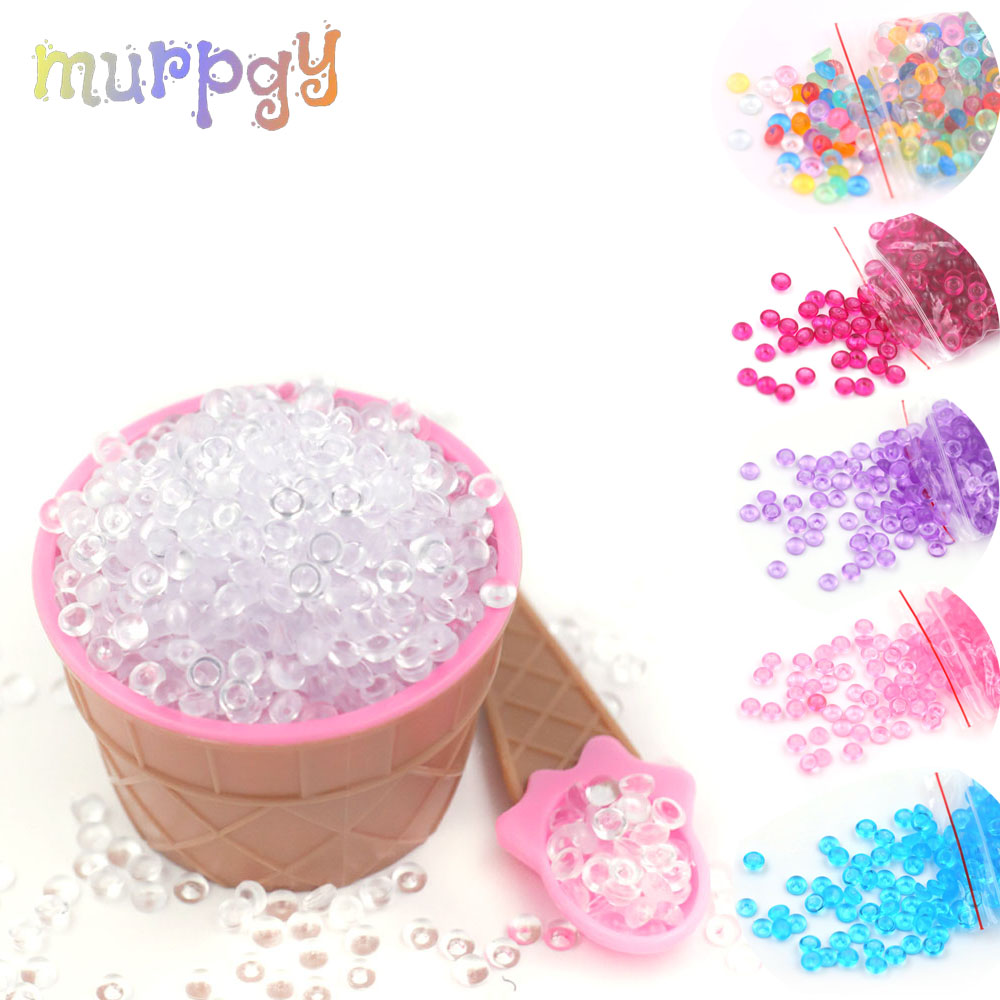 20g Colorful Beads Glue For Slime Supplies Hand Gel Additives Supplements Balls For Slime Fluffy Lizuny Slices Fish Tank Decor