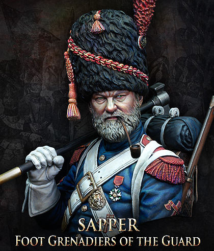 Resin Assembly  Kits 1/ 10 Sapper Foot Grenadiers Of The Guard Bust   Unpainted Kit Resin Model Free Shipping