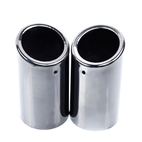 1 Pair Titanium Pipes Muffler Exhaust Tail for BMW E90 E92 325 3Series 06 10 Stainless steel 2018 High Quality