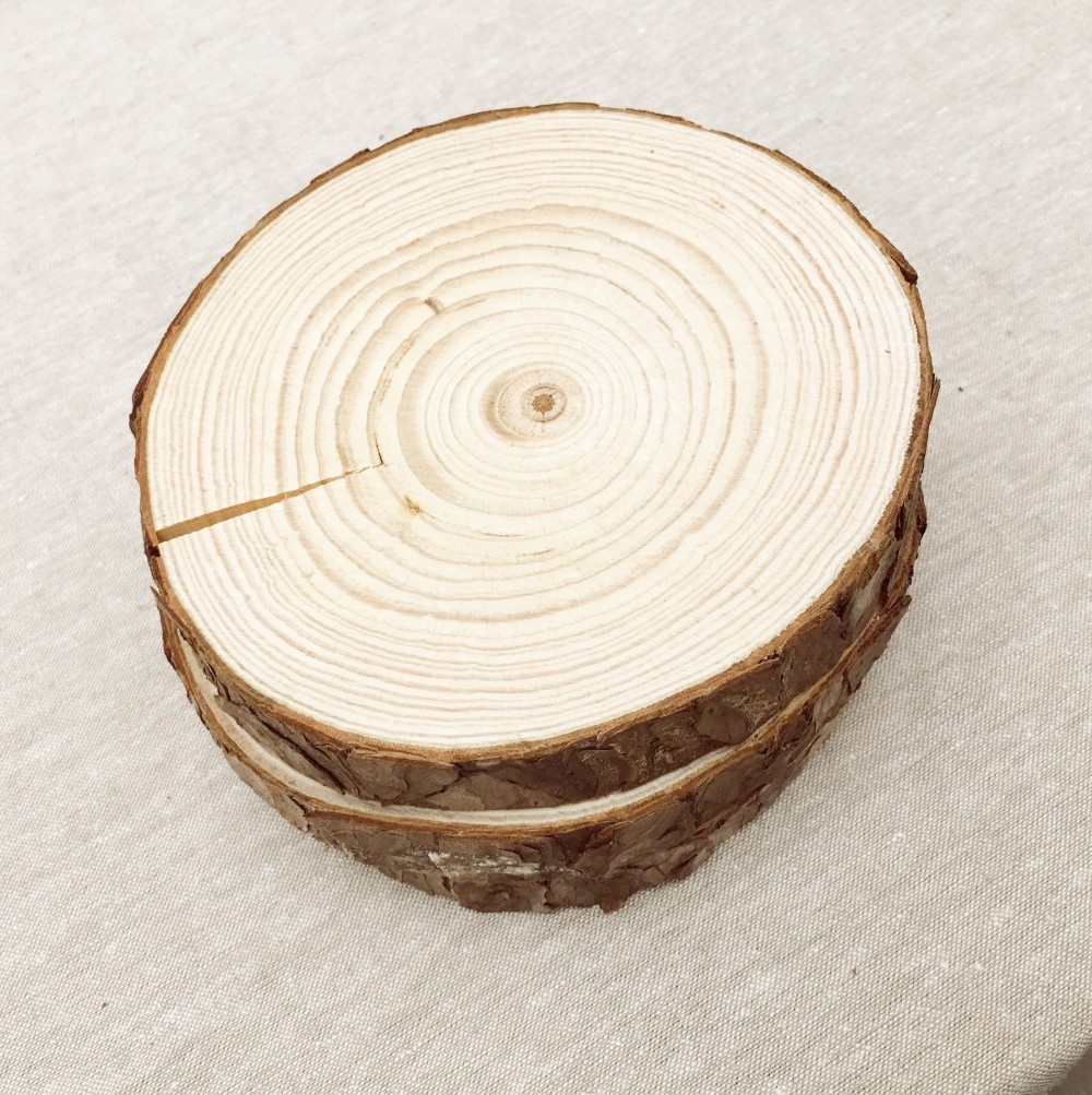 Wood craft 100% nature wooden decor slice DIY accessories wall ...