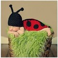 Coccinella septempunctata baby pictures of handmade garment  men and women infant wool hat newborn photography props