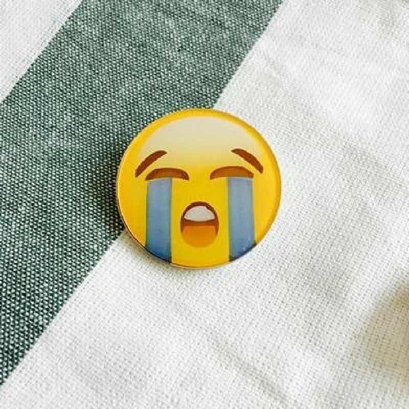 Thời trang Giá rẻ mặt Cười Giá Rẻ Broochs Harajuku Đáng Yêu Hoang Dã Hoạt Hình Acrylic Thổ Cẩm dành cho Phụ Kiện Trang Sức Nữ Cô Gái Tặng