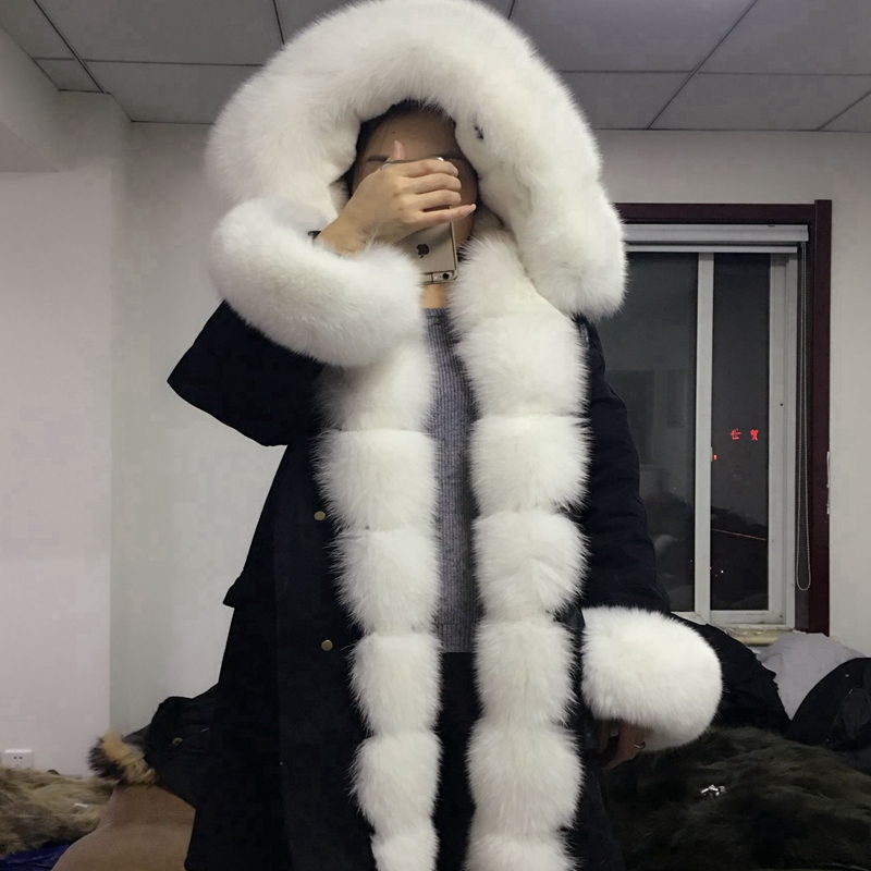 2018natural Fox fur coat collar rabbit hair liner faction overcome - Women's Clothing