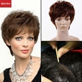 New Arrival Fluffy Hand Tied Glueless Full Lace Human Hair Wigs Full Mixed Short Curl Human Hair Wigs For Women Antibiosis Cap