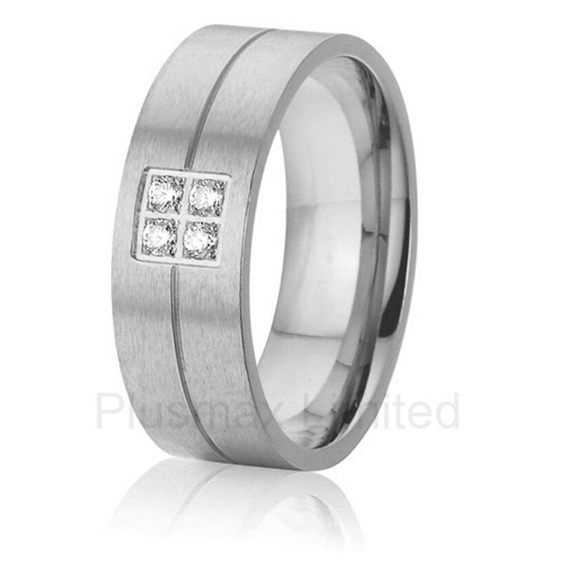 Anel bijoux en titane cadeau d'amour bagues de mariage de mariée